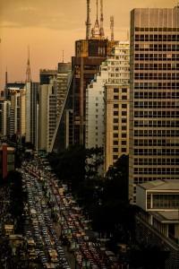 Verkeersinfarct in São Paulo - Foto: Mídia NINJA